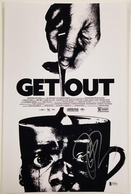 Jordan Peele Signed Get Out 11X17 Photo Director Writer Oscar Beckett Bas Coa