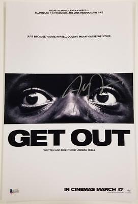 Jordan Peele Signed Get Out 11X17 Photo Director Writer Oscar A Beckett Bas Coa