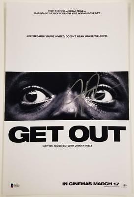 Jordan Peele Signed Get Out 11X17 Photo Director Writer Oscar B Beckett Bas Coa