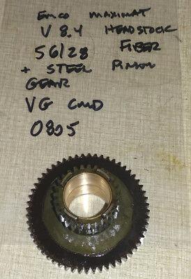 Emco Maximat 8.4 Lathe Headstock 56 28 Fiber Steel Pinion Gear 0805
