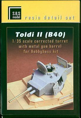SBS Models 1/35 TOLDI II (B40) TANK CORRECTED TURRET with GUN BARREL Update Set