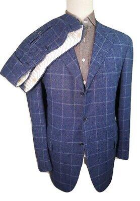£2999 PAL ZILERI SARTORIALE (HIGHEST) UK 44 46 IT 54 38 BLUE PLAID FLANNEL SUIT