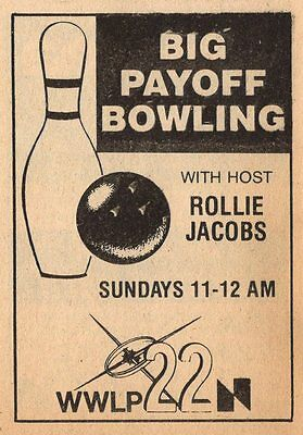 1979 Wwlp Tv Ad Rollie Jacobs  Big Playoff Bowling Springfield Massachusetts