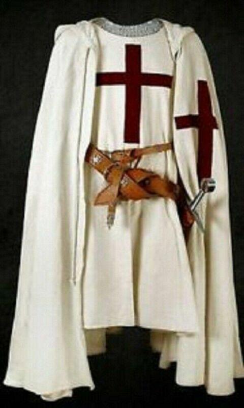 Medieval Knight Templar Cloak Crusader Costume Tabard Reenactment Armor LARP