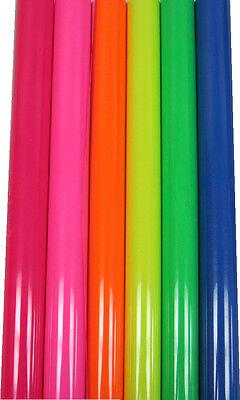 Kit Fluorescent Siser Heat Press Transfer Vinyl - 6 Rolls - 15 X One Yard Each