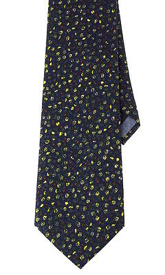 NEW Men's Casual Necktie Summer Floral Chambray London Tie  3