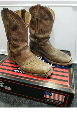 Men's Double H roper boots DH3560 size 9.5 used with lots of life left in them!