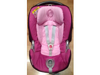 CYBEX ATON Pink/Purple Baby Car seat/Carrier suitable from birth