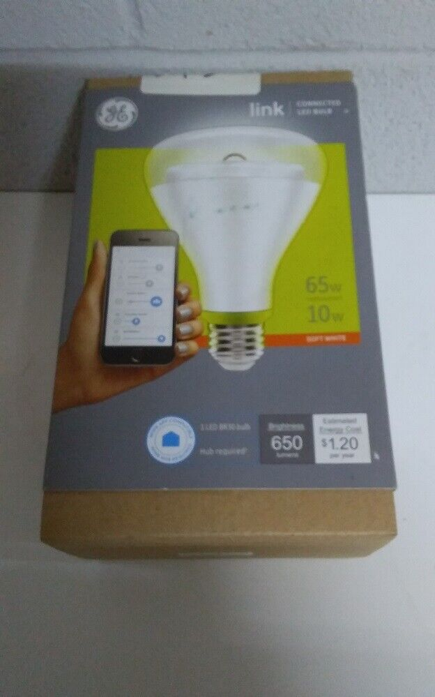 GE Link Smart LED Bulb BR30 Soft White 2700K 65-Watt
