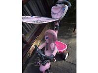 Baby girls pink trike