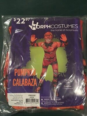 Calabazas Halloween (Halloween Costume Morph costume Pumpkin Calabaza Original Boys Medium 8-10)