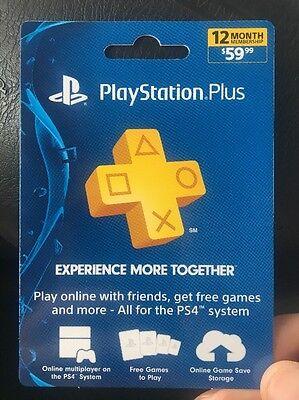 Sony Psn Playstation Plus 1 Year 12 Months Membership Prepaid Card