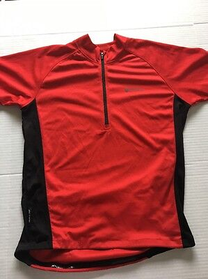 7591244f62a Mountain Warehouse Cycling Jersey Red Isocool Base layer Size Medium Quick  Dry