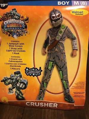 Skylanders Crusher Costume (Skylanders Crusher Lights Up Costume Boy)