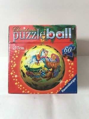 Ravensburger Christmas Puzzleball Ornament 60 Pieces New Sealed Gifts Bear Drum  ()
