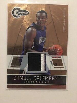 NBA Prime Jersey Card Samuel Dalembert Panini certified 10-11 10/25(gold V Rare)