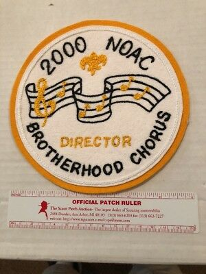 OA 2000 NOAC DIRECTOR BROTHERHOOD CHORUS felt On Felt Patch - 5 Made - VERY RARE
