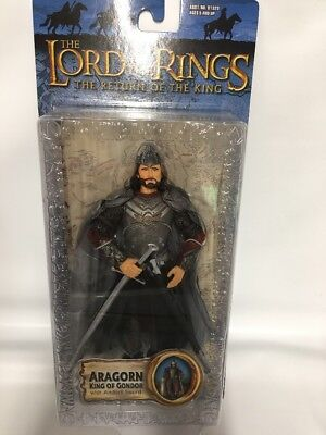 "Lord of the Rings Return of the King Aragorn Action Figure ""NEW"" 2003 Great Cond"