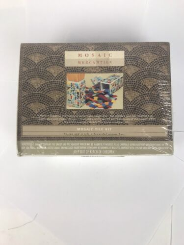 Mosaic Mercantile Tile Kit - Make A Functional Water Tight Mosaic Box New! Art