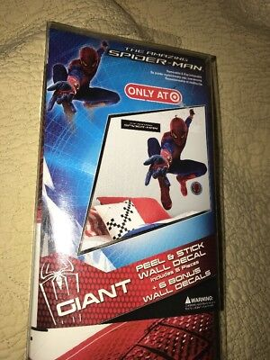 New The Amazing Spider-Man Giant Peel & Stick Wall Decal Sticker Roommate Marvel Amazing Spider Man Peel