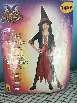 kids Halloween costumes girls Witch New Large 12-14 8 To 10 Years