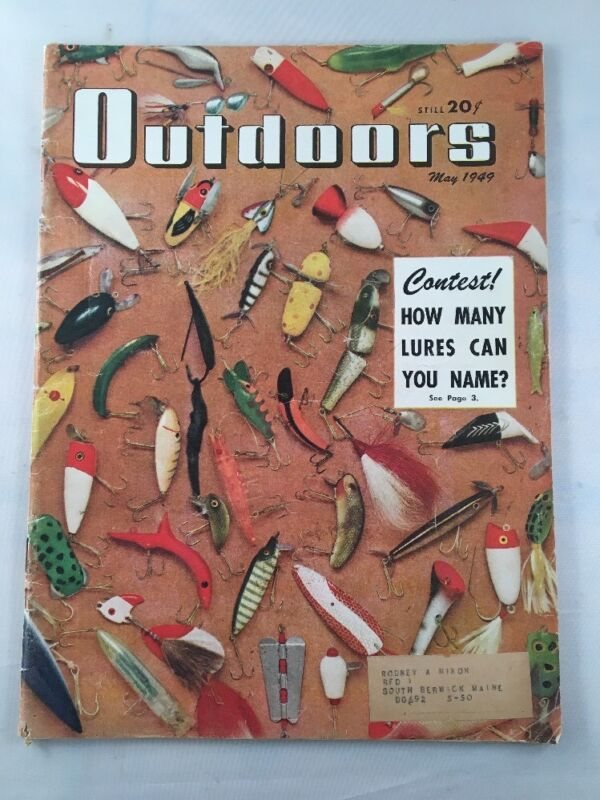 Outdoors Magazine Back Issue May 1949 Hunting & Fishing Related