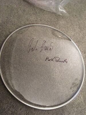 COLIN HANTON BILL SMITH QUARRYMEN SIGNED DRUM HEAD SKIN PHOTO LP VINYL BEATLES