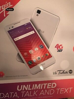 Lg Tribute Hd 16Gb Lte Smartphone  For Virgin Mobile   New