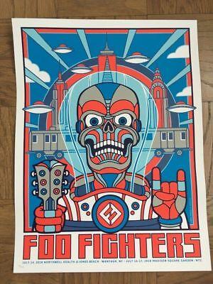 FOO FIGHTERS POP UP POSTER MSG NYC JONES BEACH #/300 SOLDOUT