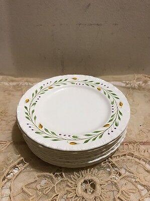 Vintage Wedgwood Barley Bread Dessert Plates Set of 10 Made In England Low Start