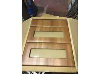 65 X Joblot New assorted Kitchen Doors Drawer Fronts Walnut look ,replacment,