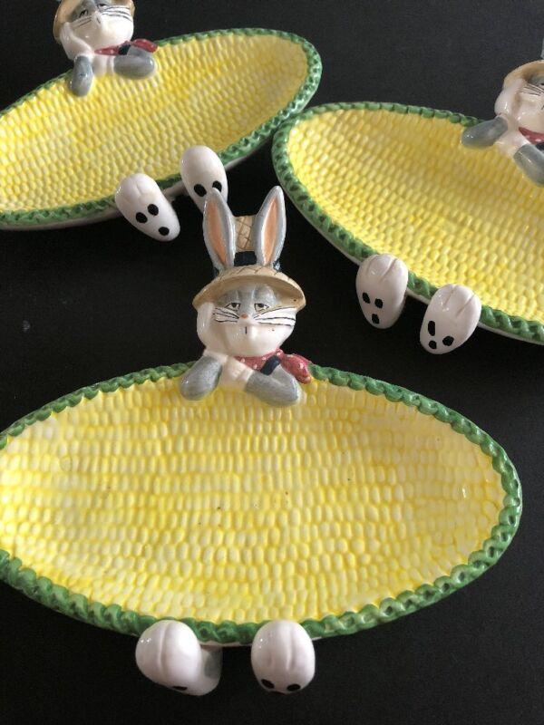 3 Warner Brothers 1995 Acme Bugs Bunny Corn Holders #B778