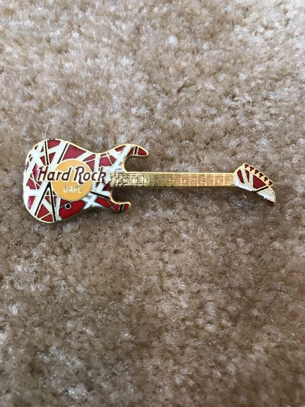 Hard Rock Cafe Los Angeles Van Halen Kramer Guitar Pin * No Name * Rare