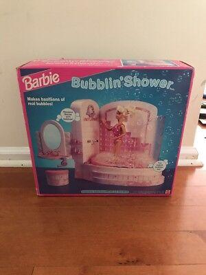 Sealed VINTAGE 1992 Barbie BATH TUB Bubblin Shower Mattel 4809 Bubble Bath (Barbie Shower)