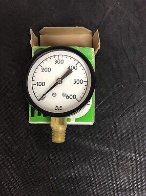 Vintage Marsh Instrument Pressure Gauge 0-600 Industrial Steam Punk Nos