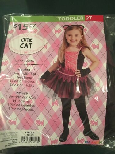 Halloween Costume Girls Toddlers Cutie Cat Size 2T