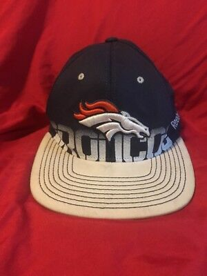 - Denver Broncos Reebok On Field NFL Equipment hat one size adult small to medium