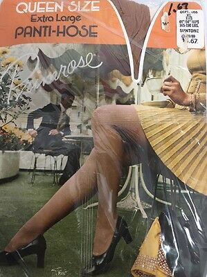 Vintage NEW Woolworth Pantyhose Nylons Queen Size XL 165-190 Lb Suntone RARE