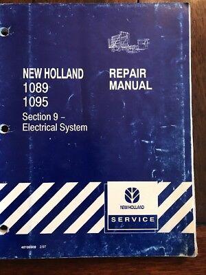 New Holland Ford 1089 1095 Bale Wagon Repair Service Manual Sec 9 297