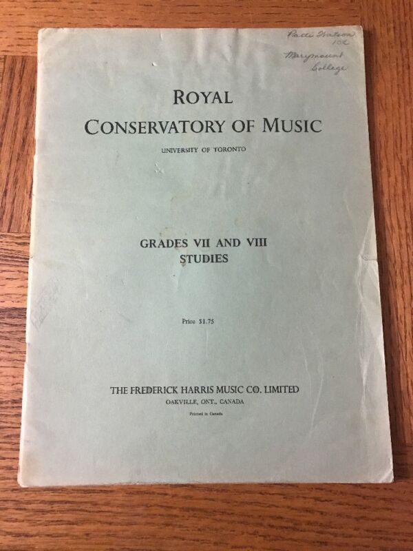 Royal Conservatory Of Music Grades VII And VIII