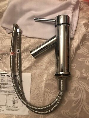 Virtu Usa Ps 103 Cp Polished Chrome Single Hole One Handle Bathroom Faucet Nib