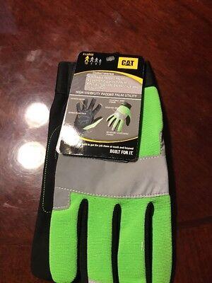 Cat Gloves Cat012214l Xl Fluorescent Green Spandex Back Gloves High Visibility