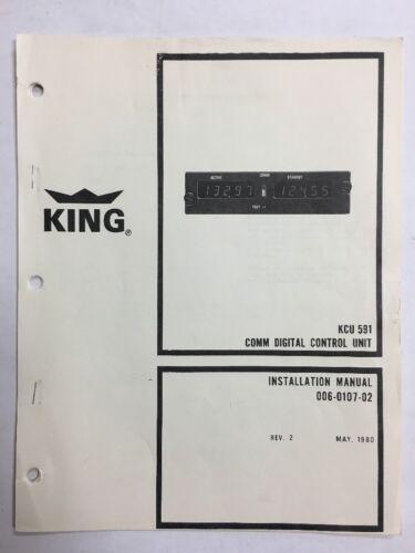 King KCU 591 COMM Digital Control Unit Installation Manual l980 Original