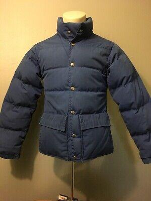 Vtg 70s 80s Blue Holubar Down Puffy Ski Jacket Mens XS-S Snap Parka Coat Boulder