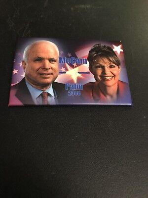 2008 John Mccain Sarah Palin President Campaign Button Pin Pinback