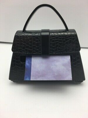Black Purse-shaped Post-it Note Holder For 3 X 3 Pop-up Notes 3m Brand
