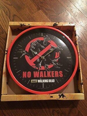 The Walking Dead Official Wall Clock NEW NIB Daryl Rick Carl AMC No Walkers Dorm