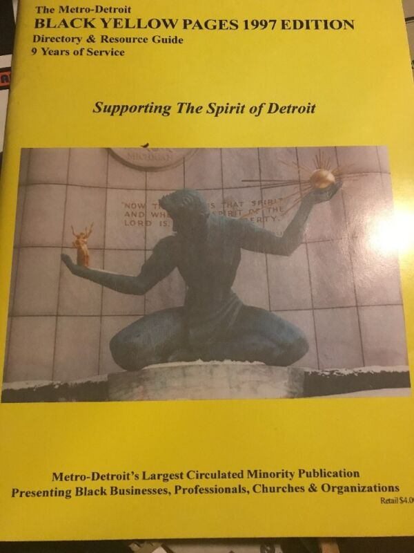 Detroit Directory  Black Yellow Pages History 1997