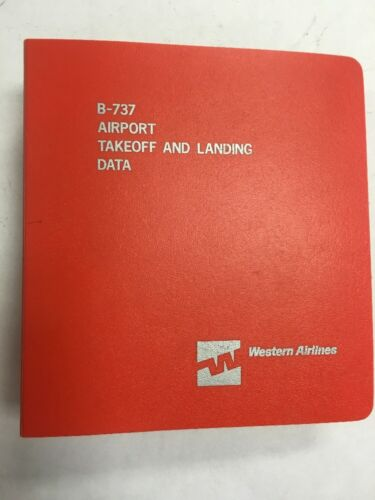 B-737 Western Airlines Airport Takeoff and Landing Data