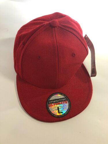 City Hunter Red Baseball Style Hat  Size Large NWT